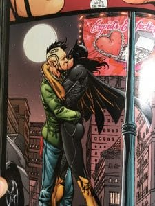 Batgirl and ricky kiss
