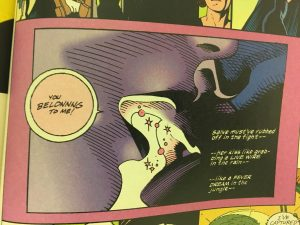Batman and Poison Ivy Kiss Hothouse