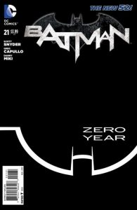 Batman New 52 Zero Year Secret City #21 Cover