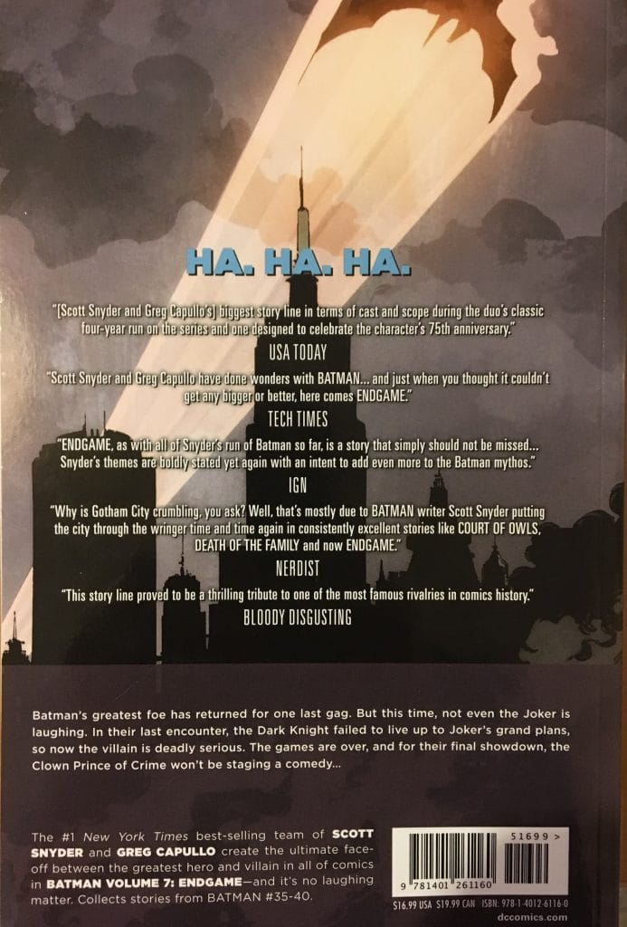 Batman Volume 7 Endgame Rear