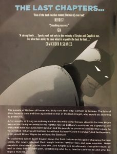 Batman Volume 10 Epilogue Rear